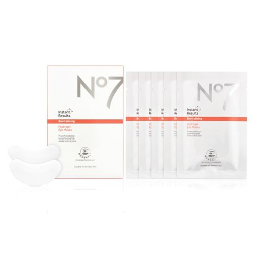 No7 Instant Results Revitalising Hydrogel Eye Masks (5x Sachets)