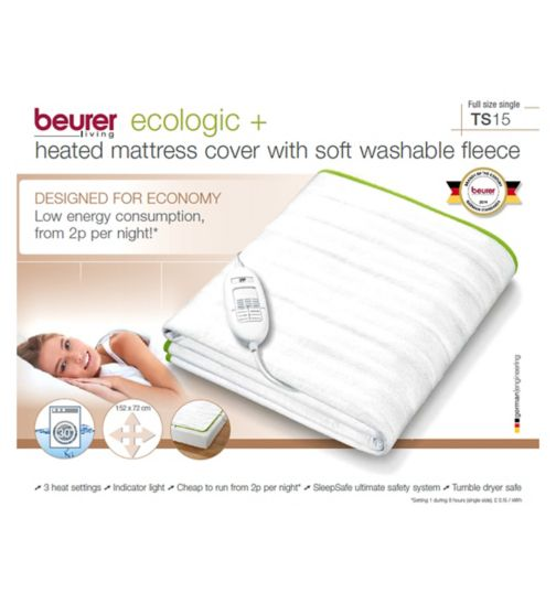 Beurer Ecologic+ Single Heated Blanket
