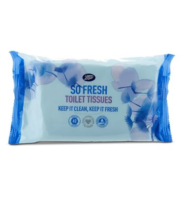 Boots Clean And Fresh Moist Toilet Tissue 40 by Boots