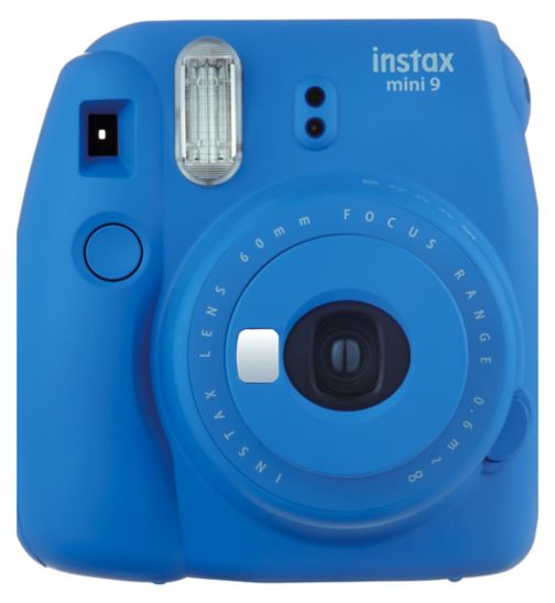 Instax mini 9 with 10 shots cobalt blue