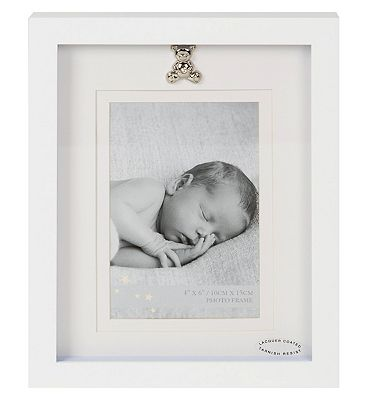 Image of 4x6 White Photo Frame With Icon