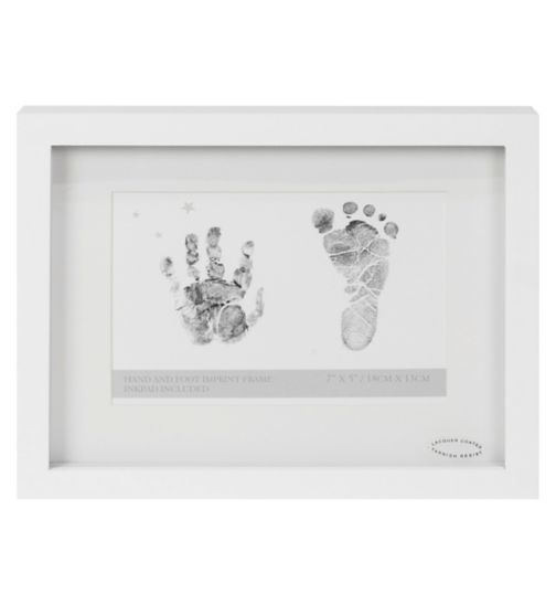 Widdop mdf frame with ink pad for hand and footprint 4 x 6 inches