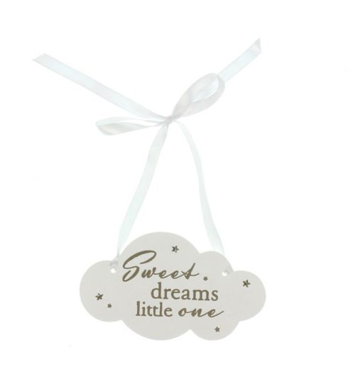Widdop resin cloud hanging plaque