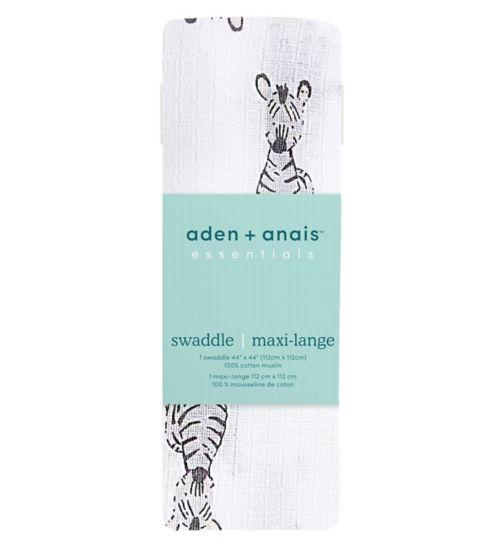aden by aden + anais Large Single Muslin Sawddle - Safari Babies