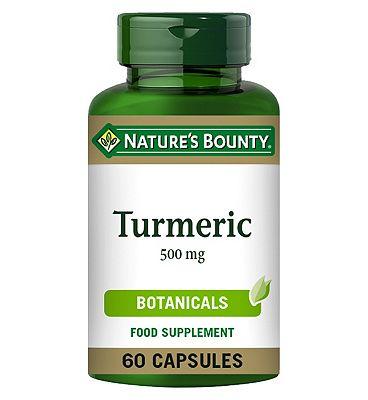 Natures Bounty Turmeric 500mg 60 capsules