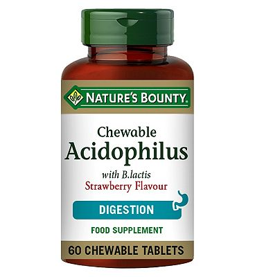 Nature's Bounty Chewable Acidophilus Strawberry Flavour - 60 Tablets