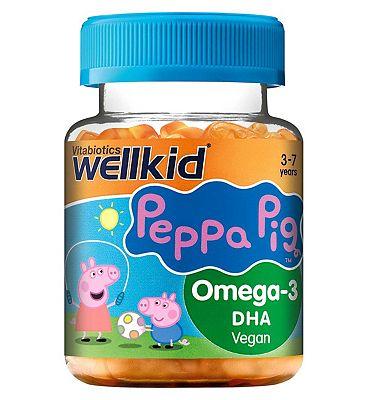 Vitabiotics Wellkid Peppa Pig Omega-3 Flaxseed Oil - 30 jellies
