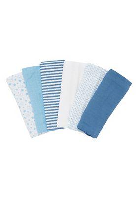 Mothercare Muslin cloths- blue