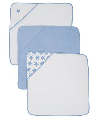 Mothercare blue Cuddle \'N\' Dry towels - 3 pack - Blue