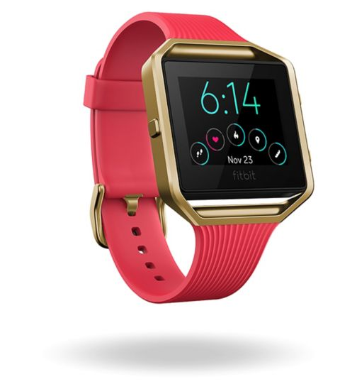 Fitbit Blaze Special Edition - Slim Pink/22k Gold Plated (Large)