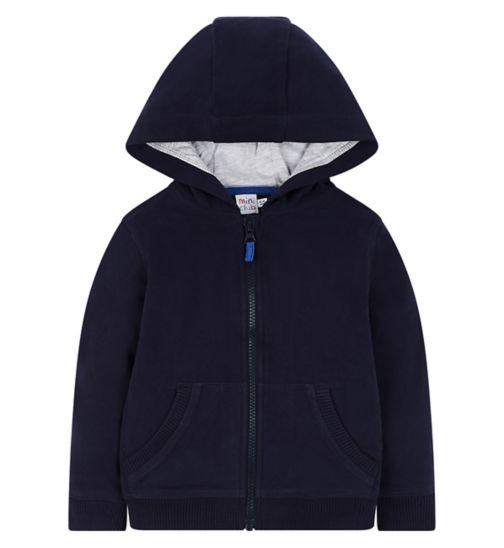 Mini Club Navy Zip Up Hoodie