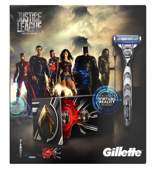 Gillette Mach3 Turbo Men's Razor Justice League Gift Set