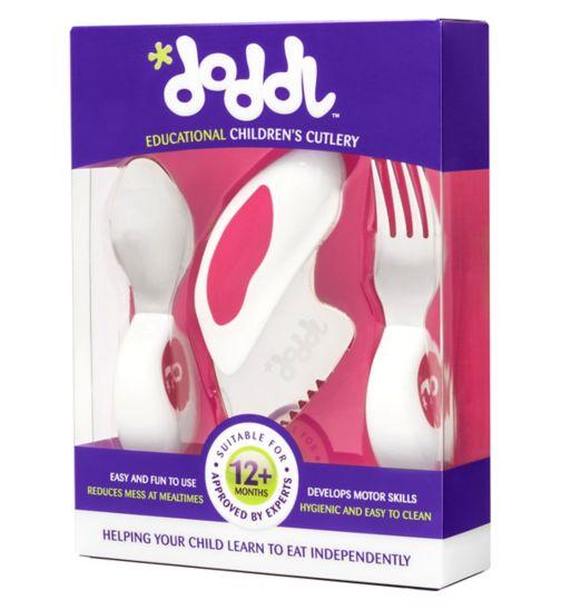 Doddl Children's Cutlery Set - Pink