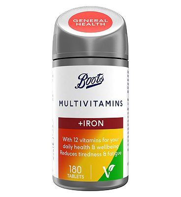 Boots Multivitamins with Iron (180 Tablets) - 6 months supply