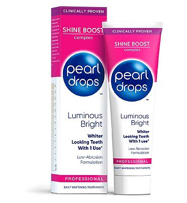 Pearl Drops Luminous Bright White Toothpaste 75ml