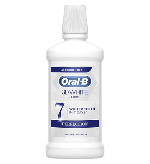 Oral B 3D White Luxe Perfection Mouthwash 500Ml