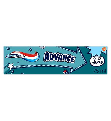 Aquafresh Advance 9-12 Kids Toothpaste 75ml