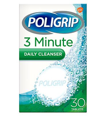 Poligrip 3 Minute Daily Cleanser 30 Tablets