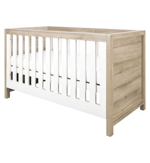 Tutti Bambini Modena 3 in 1 Cot bed White/Oak