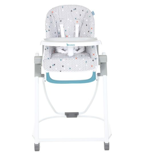 Babymoov Compact High Chair Grey pattern