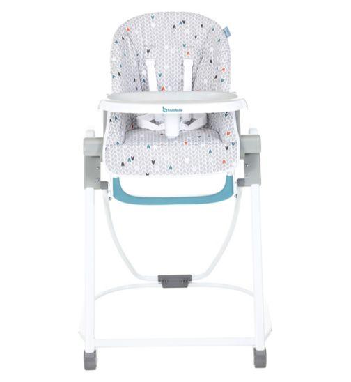 Badubulle Compact High Chair Grey pattern