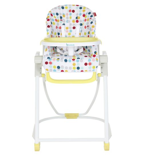 Badabulle Compact High Chair Confetti yellow
