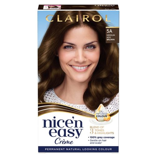 Clairol Nice n Easy Permanent Hair Dye 5A Medium Ash Brown