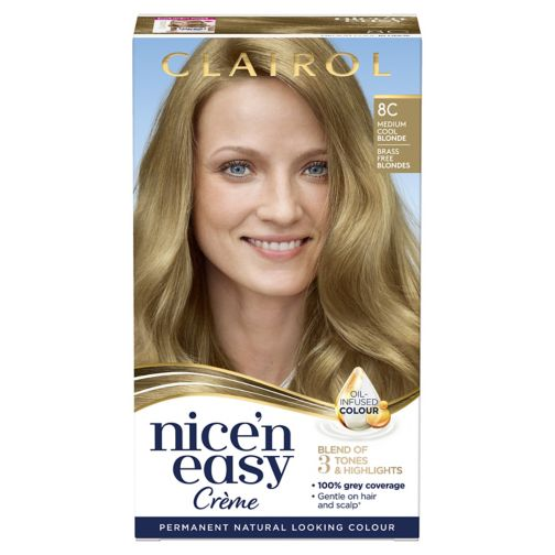 Clairol Nice n Easy Permanent Hair Dye 8C Medium Cool Blonde