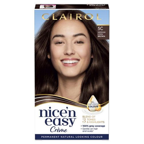 Clairol Nice n Easy Permanent Hair Dye 5C Medium Cool Brown
