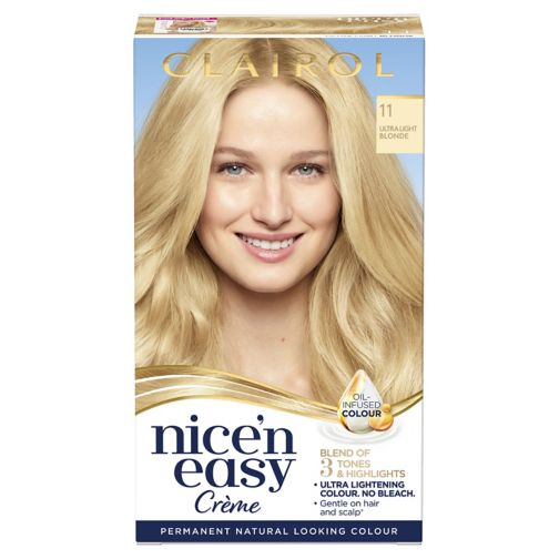 Clairol Nice n Easy Permanent Hair Dye 11 Ultra Light Blonde