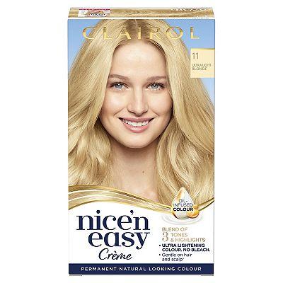 Clairol Nice n Easy Permanent Hair Dye 11 Ultra Light Blonde