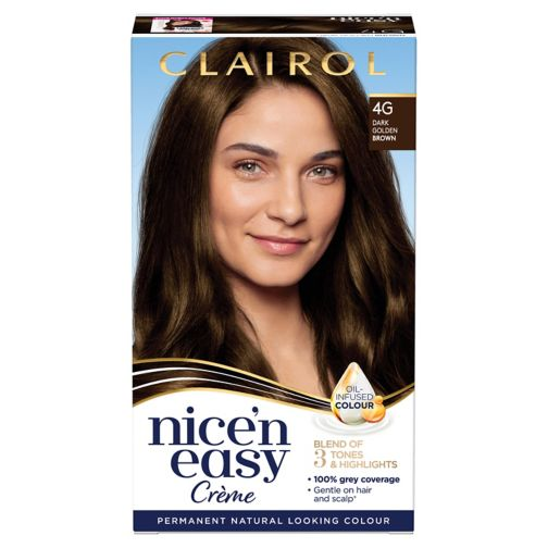 Clairol Nice n Easy Permanent Hair Dye 4G Dark Golden Brown