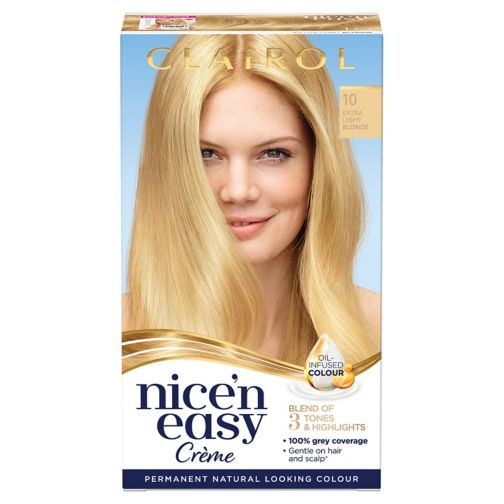 Clairol Nice n Easy Permanent Hair Dye 10 Extra Light Blonde