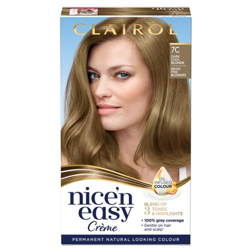 Clairol Nice n Easy Permanent Hair Dye 7C Dark Cool Blonde