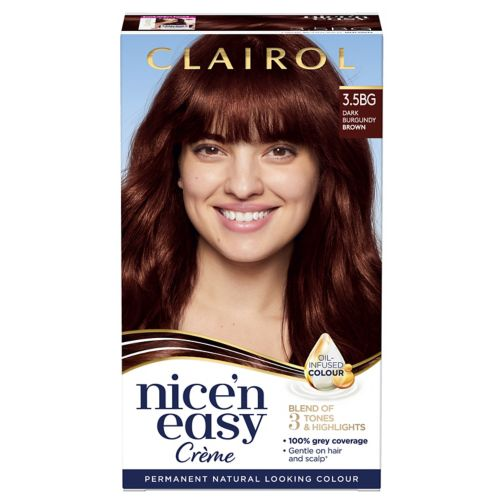 Clairol Nice n Easy Permanent Hair Dye 3.5BG Dark Burgundy Brown
