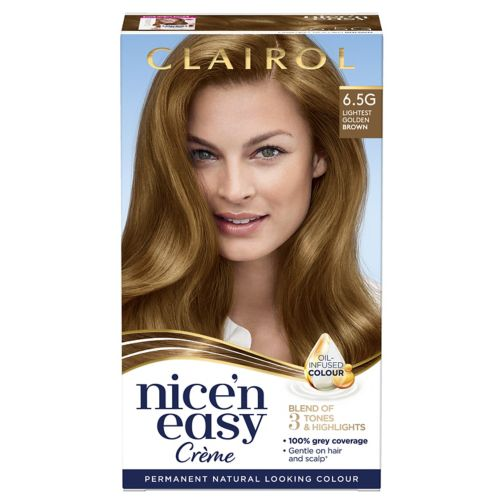 Clairol Nice n Easy Permanent Hair Dye 6.5G Lightest Golden Brown