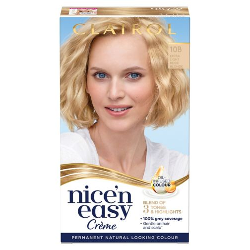 Clairol Nice n Easy Permanent Hair Dye 10B Extra Light Beige Blonde (Formerly Shade: 9.5B)