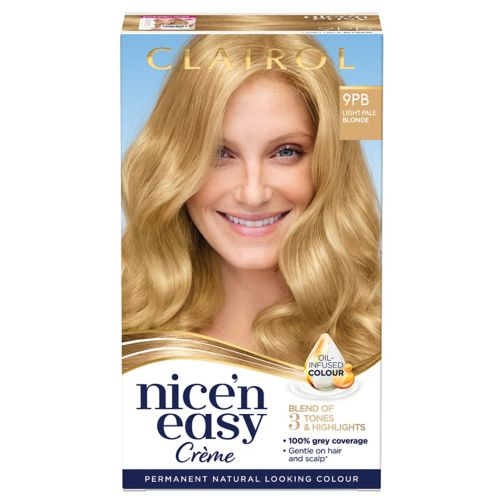 Clairol Nice n Easy Permanent Hair Dye 9PB Light Pale Blonde