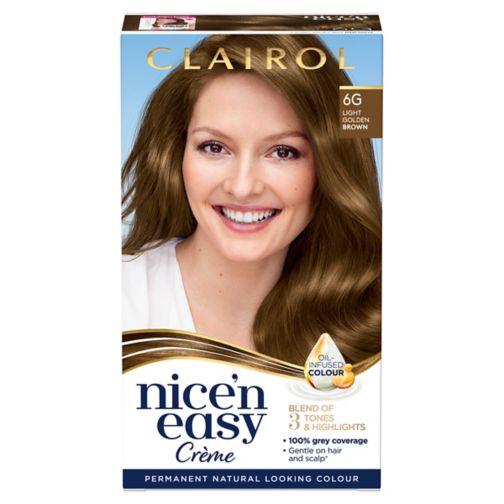Clairol Nice'n Easy Permanent Hair Dye 6G Light Golden Brown