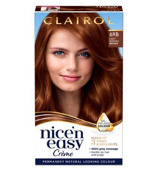 Clairol Nice'n Easy Permanent Hair Dye 6RB Light Reddish Brown