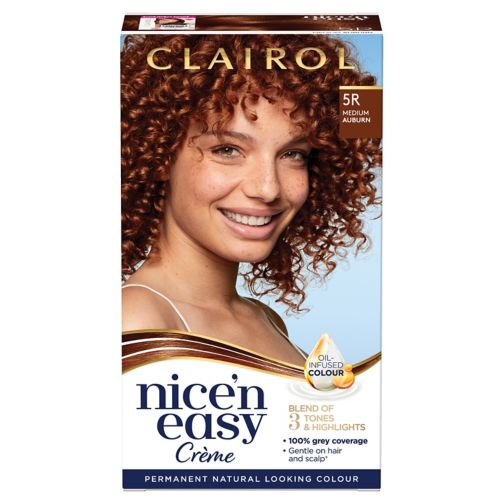 Clairol Nice'n Easy Permanent Hair Dye 5R Medium Auburn