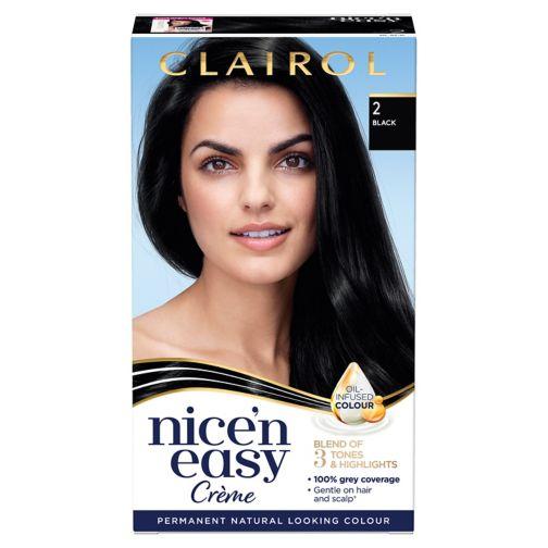 Clairol Nice'n Easy Permanent Hair Dye 2 Black