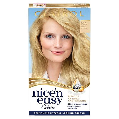 Clairol Nice n Easy Permanent Hair Dye 10A Baby Blonde (Formerly Shade: 9.5A)