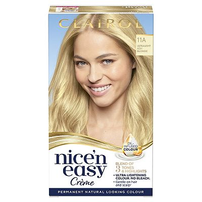 Clairol Nice n Easy Permanent Hair Dye 11A Ultra Light Ash Blonde (Formerly Shade: 10A)