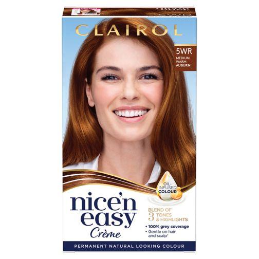 Clairol Nice'n Easy Permanent Hair Dye 5WR Medium Warm Auburn