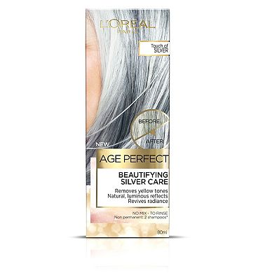 Image of L'Oreal Age Perfect Colour Care Silver Grey Hair Toner