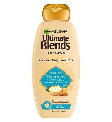 Garnier Ultimate Blends Argan Oil & Almond Cream Dry Hair Shampoo 360ml