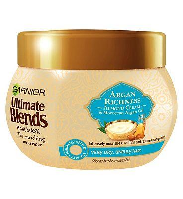 Garnier Ultimate Blends Argan Oil & Almond Cream Dry Hair Treatment Mask 300ml