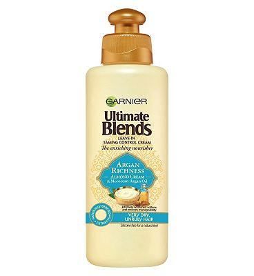 Garnier Ultimate Blends Argan Oil & Almond Cream Dry Hair Leave-In Conditioner 200ml