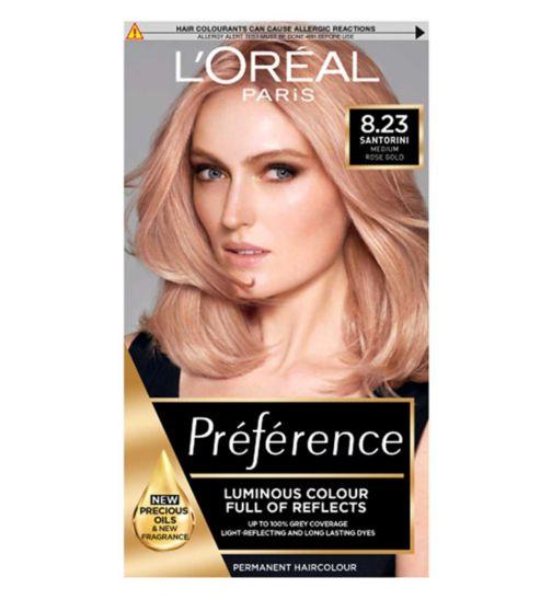 L'Oreal Preference Infinia 8.23 Rose Gold Light Blonde Permanent Hair Dye